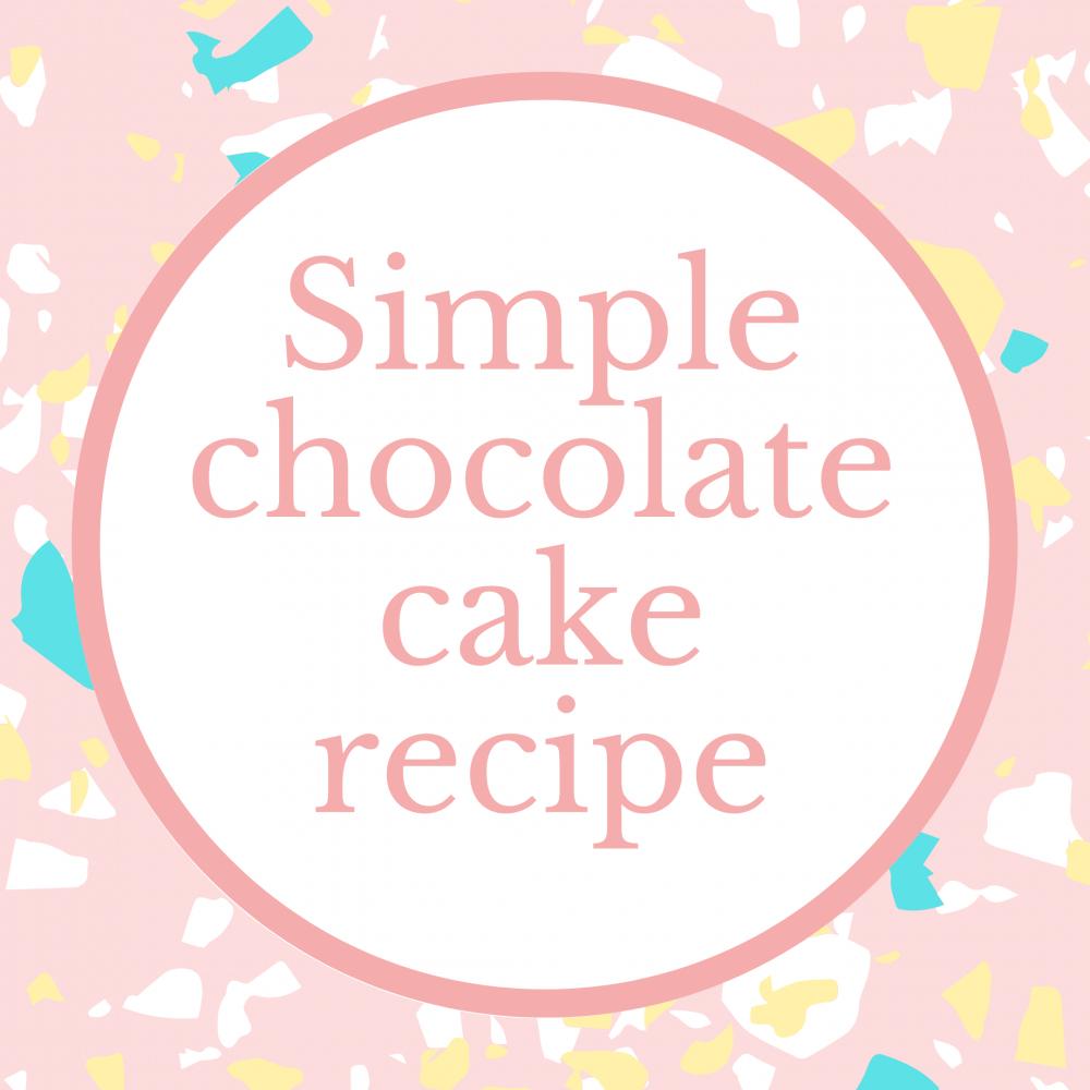 Simple chocolate cake recipe logo Marie Makes
